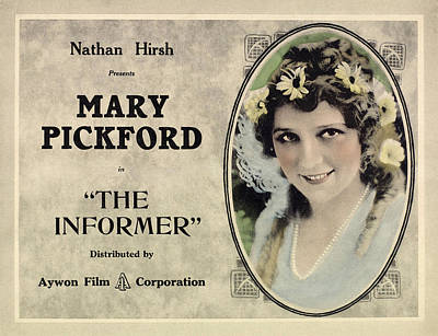 The Informer, Mary Pickford, 1912 Poster by Everett