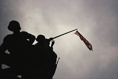The Iwo Jima Memorial Silhouetted Poster by Raul Touzon