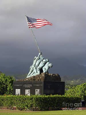 The Iwo Jima Statue Poster by Michael Wood