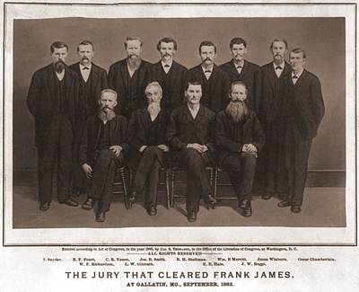 The Jury That Acquitted Frank James Poster by Everett