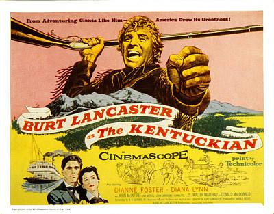 The Kentuckian, Burt Lancaster, 1955 Poster
