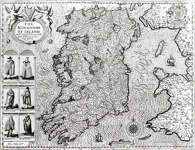 The Kingdom Of Ireland Poster by Jodocus Hondius