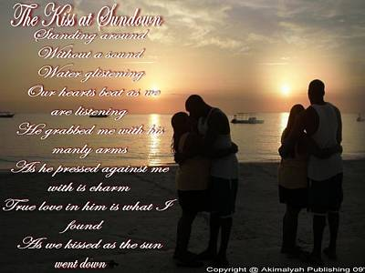 The Kiss At Sundown Poster by Barbara Judkins-Stevens
