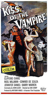 The Kiss Of The Vampire, Aka Kiss Of Poster by Everett