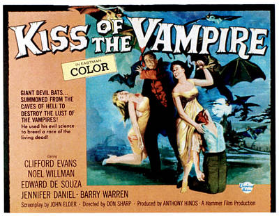 The Kiss Of The Vampire, Center Poster by Everett