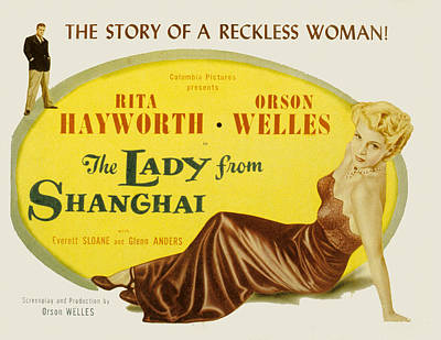The Lady From Shanghai, Orson Welles Poster by Everett