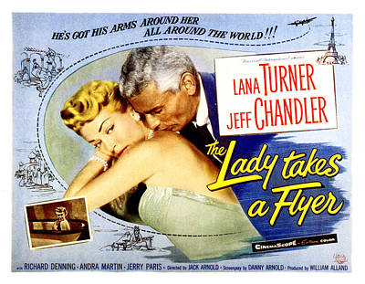 The Lady Takes A Flyer, Lana Turner Poster by Everett