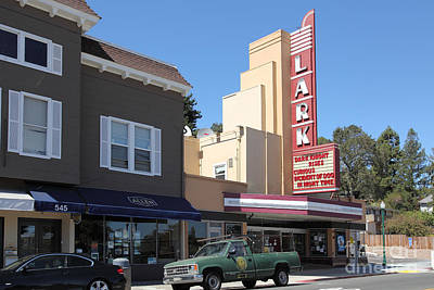 The Lark Theater In Larkspur California - 5d18483 Poster by Wingsdomain Art and Photography