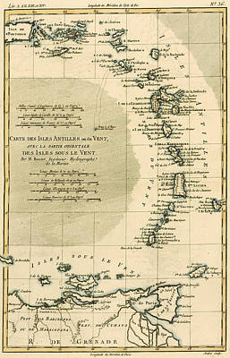 The Lesser Antilles Or The Windward Islands Poster