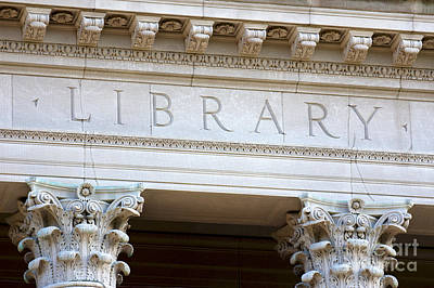 The Letters Library On A University Building Poster