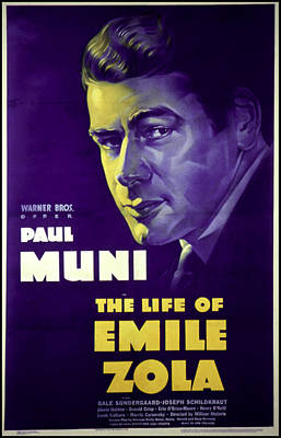 The Life Of Emile Zola, Paul Muni, 1937 Poster