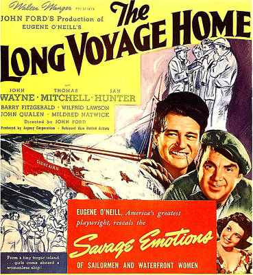 The Long Voyage Home, John Wayne Poster by Everett
