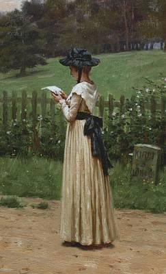 The Love Letter Poster by Edmund Blair Leighton