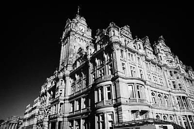 The Luxury Balmoral Hotel Edinburgh Scotland Uk United Kingdom Poster by Joe Fox
