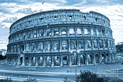Poster featuring the photograph The Majestic Coliseum by Luciano Mortula