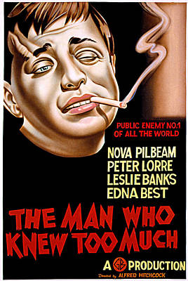 The Man Who Knew Too Much, Peter Lorre Poster