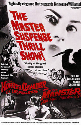 The Manster, Aka The Split, On Double Poster by Everett