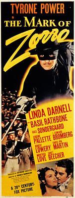 The Mark Of Zorro, Basil Rathbone Poster