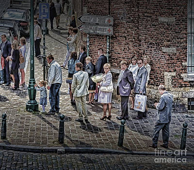 Poster featuring the photograph The Mass-goers Brussels by Jack Torcello