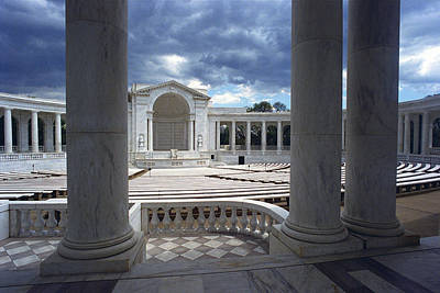 The Memorial Amphitheater At Arlington Poster