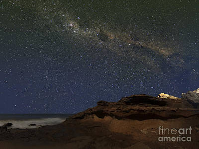 The Milky Way Over The Cliffs Poster by Luis Argerich