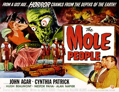 The Mole People, Girl On Upper Left Poster by Everett