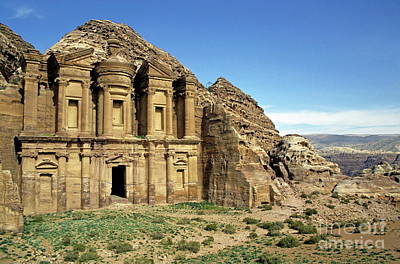 The Monastery Ad Dayr At Petra Poster