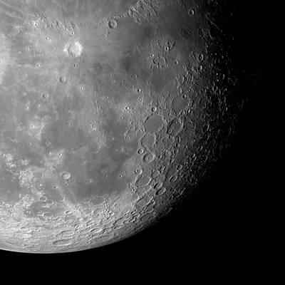 The Moon From Space, Artwork Poster by Detlev Van Ravenswaay