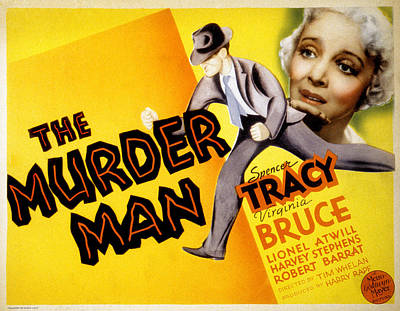 The Murder Man, Spencer Tracy, Virginia Poster by Everett