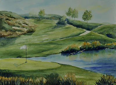 The Nature Of Golf At Tpc Poster by Sandy Fisher