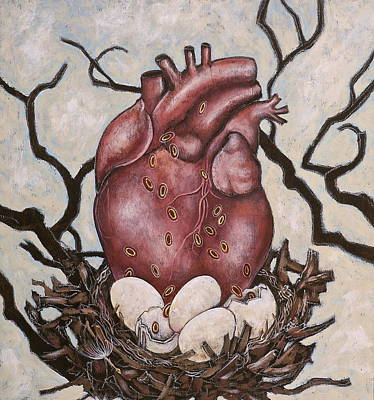 Poster featuring the painting The Nest Of My Heart by Sheri Howe