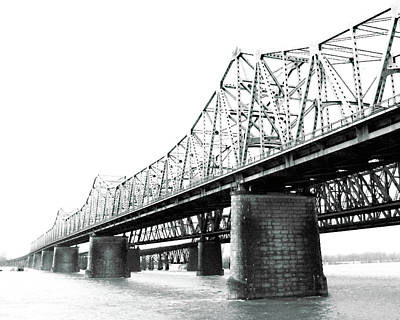 Poster featuring the photograph The Old Bridges At Memphis by Lizi Beard-Ward