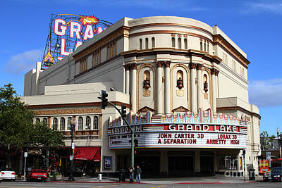 Poster featuring the photograph The Old Grand Lake Theatre . Oakland California . 7d13474 by Wingsdomain Art and Photography