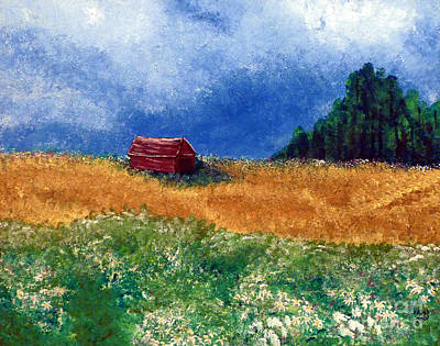 The Old Red Barn Poster by Alys Caviness-Gober
