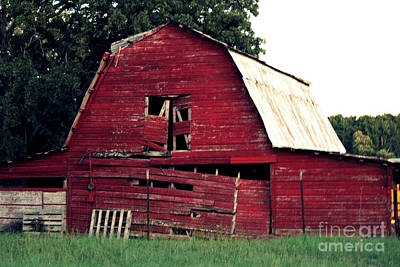 Poster featuring the photograph The Ole Red Barn by Kathy  White