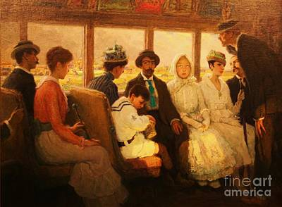 The Out Of Town Trolley Poster by Pg Reproductions