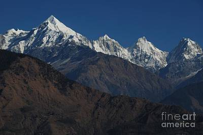 Poster featuring the photograph The Panchchuli Range by Fotosas Photography