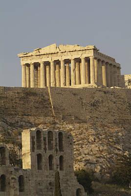 The Parthenon On The Acropolis Poster by Richard Nowitz
