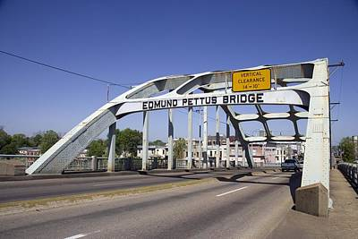 The Pettus Bridge In Selma Alabama Poster by Everett