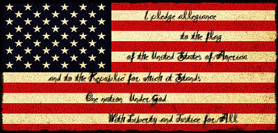 The Pledge Of Allegiance Poster by Bill Cannon