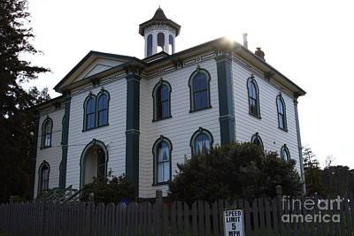 The Potter School House . Bodega Bay . Town Of Bodega . California . 7d12477 Poster