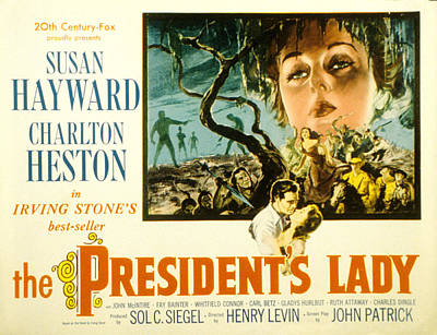 The Presidents Lady, Charlton Heston Poster by Everett