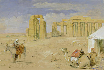 The Ramesseum At Thebes Poster by John Frederick Lewis