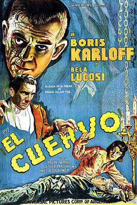 The Raven, Aka El Cuervo, Top Left Poster by Everett