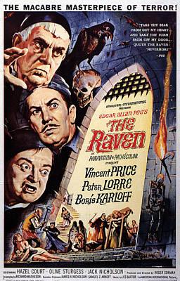 The Raven, Peter Lorre, Boris Karloff Poster