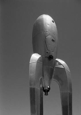 Poster featuring the photograph The Raygun Gothic Rocket Ship by Luis Esteves