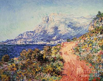 The Red Road Near Menton Poster by Claude Monet