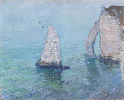 The Rock Needle And The Porte D'aval Poster by Claude Monet