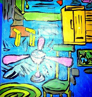 The Room - Acrylic On Paper  Poster by Sebastian Joseph