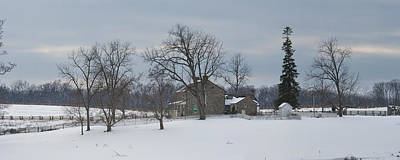 The Rose Farm In The Snow At Gettysburg Poster by Greg Dale